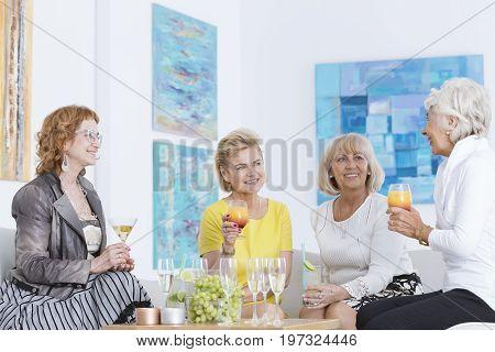 Senior Women Talking