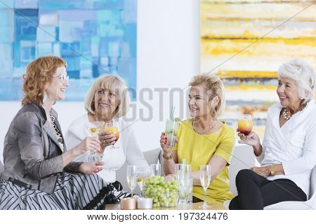 Friends At Small Party