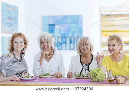 Elder Friends Smiling