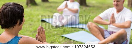 Elderly People Stretching