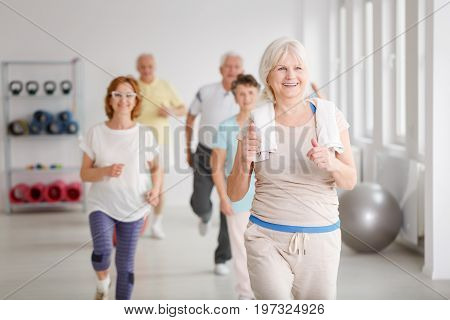 Seniors Exercising Together