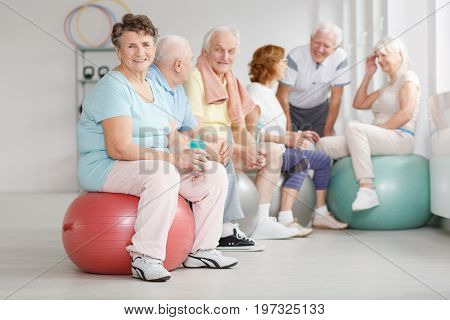 Old People Having A Break