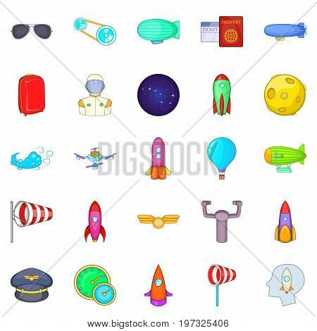 Favourable wind icons set. Cartoon set of 25 favourable wind icons for web isolated on white background