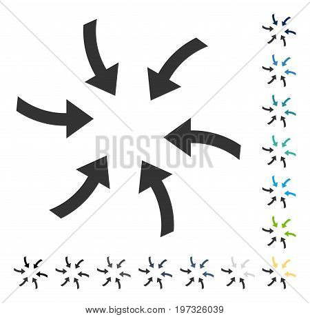 Twirl Arrows icon. Vector illustration style is flat iconic symbol in some color versions.
