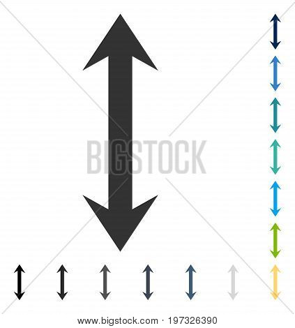 Vertical Flip icon. Vector illustration style is flat iconic symbol in some color versions.