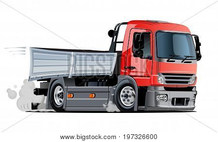 Cartoon truck. Available EPS-10 vector format separated by groups and layers with transparency effects for one-click repaint