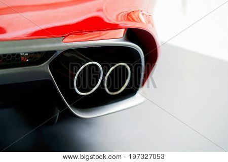 Exhaust Stack Pipe In Italian Car
