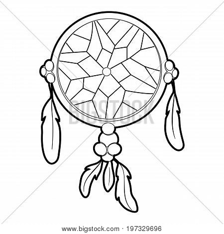 Dreamcatcher icon. Outline illustration of dreamcatcher vector icon for web design