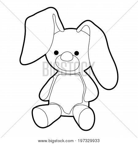 Soft toy icon. Outline illustration of soft toy vector icon for web design