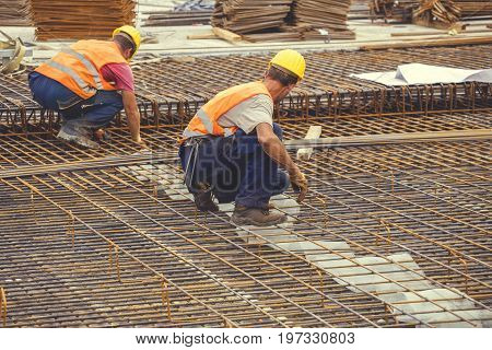 Ironworker Workers Working On Concrete Reinforcements 5