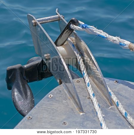 the anchor on a Prow of boat