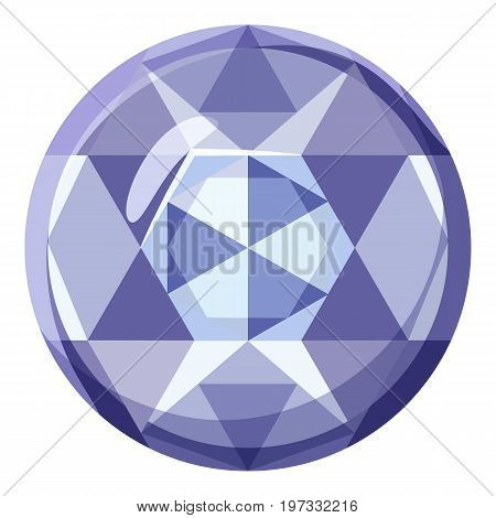 Precious stone icon. Cartoon illustration of precious stone vector icon for web design