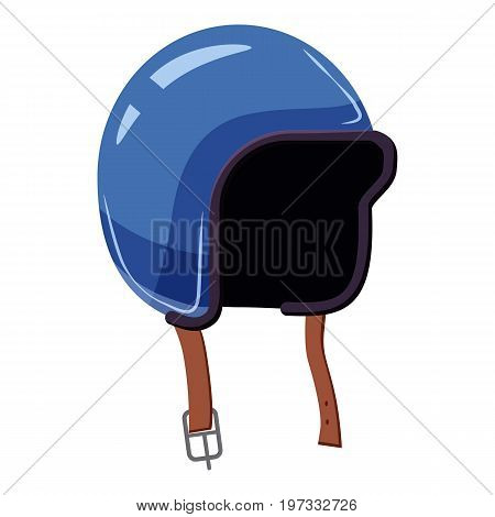 Motorcycle helmet icon. Cartoon illustration of motorcycle helmet vector icon for web design