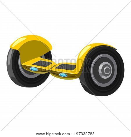 Self balancing hoverboard icon. Cartoon illustration of self balancing hoverboard vector icon for web design