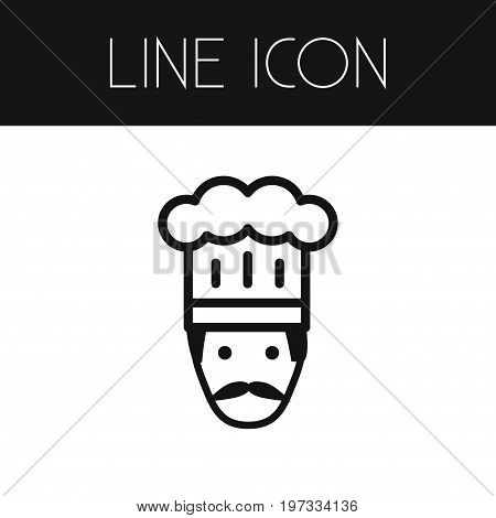 Gastronomy Vector Element Can Be Used For Gastronomy, Chef, Cooker Design Concept.  Isolated Cooker Outline.