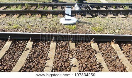 Railway Rails And Sleepers