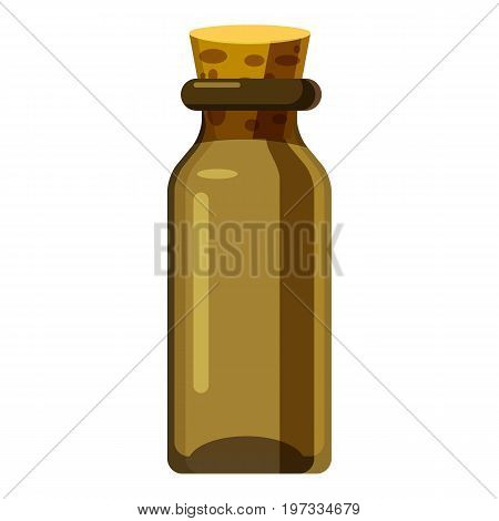 Pharmacy bottle icon. Cartoon illustration of pharmacy bottle vector icon for web design