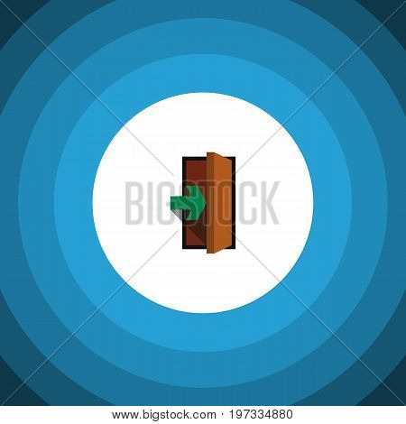 Entrance Vector Element Can Be Used For Entry, Entrance, Door Design Concept.  Isolated Entry Flat Icon.