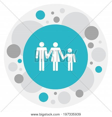 Vector Illustration Of Amour Symbol On Family Icon