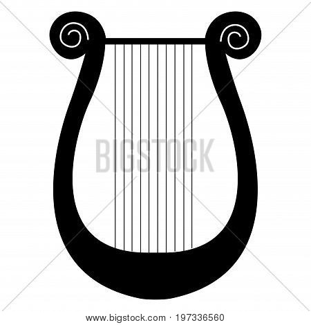 Isolated Lyre Silhouette