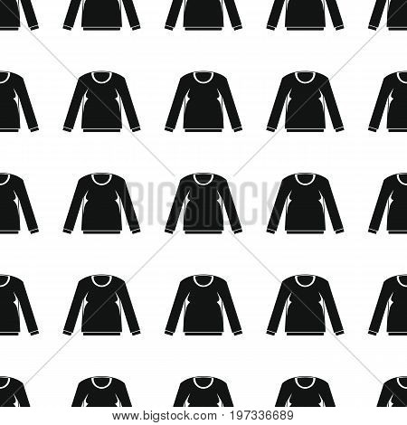 Pullover seamless pattern vector illustration background. Black silhouette pullover stylish texture. Repeating pullover seamless pattern background for clothes design and web