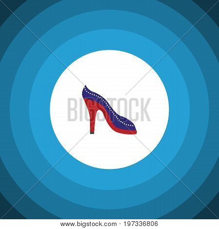 Heeled Shoe Vector Element Can Be Used For Heeled, Shoes, Sandal Design Concept.  Isolated Sandal Flat Icon.