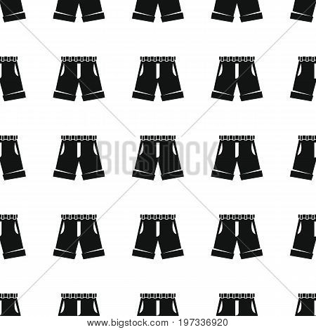 Shorts seamless pattern vector illustration background. Black silhouette shorts stylish texture. Repeating shorts seamless pattern background for clothes design and web