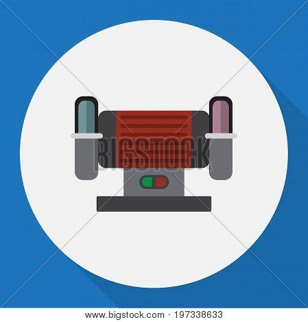 Vector Illustration Of Instruments Symbol On Grind Flat Icon
