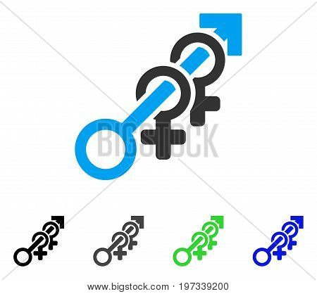 Harem flat vector icon. Colored harem gray, black, blue, green icon versions. Flat icon style for graphic design.