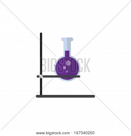 Flask Vector Element Can Be Used For Flask, Test, Tube Design Concept.  Isolated Test Tube Flat Icon.