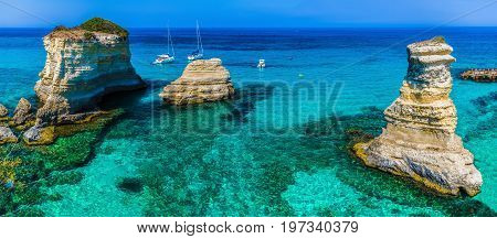 Torre Sant' Andrea Salento coast Puglia region Italy