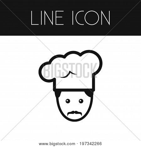 Profession Vector Element Can Be Used For Gastronomy, Chef, Profession Design Concept.  Isolated Gastronomy Outline.