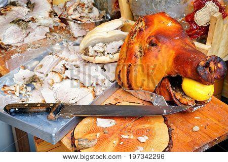 Traditional Italian Pork Cut In Slices