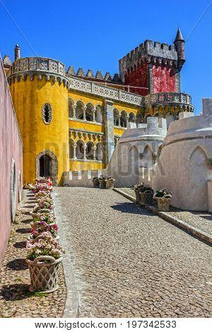 Pena National Palace. Palacio Nacional da Pena, Sintra, Portugal.