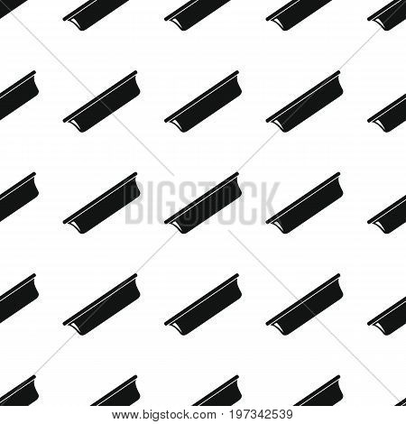 Plate seamless pattern vector illustration background. Black silhouette plate stylish texture. Repeating plate seamless pattern background for kitchen design and web
