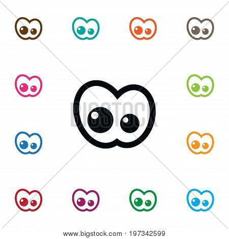 Eyeball Vector Element Can Be Used For View, Eyeball, Eye Design Concept.  Isolated View Icon.