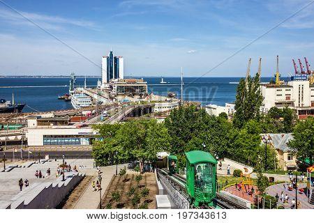 ODESSA, UKRAINE - MAY 31 2017: Odessa passenger port, Ukraine