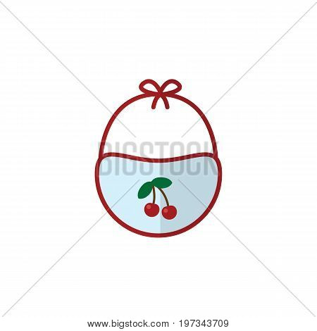 Pinafore Vector Element Can Be Used For Bib, Pinafore, Pinny Design Concept.  Isolated Bib Flat Icon.