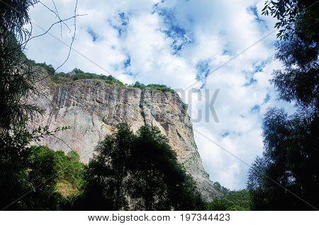 An elephant rock formations at the DaLong waterfall scenic area within Yandangshan scenic area near Yandang Town Yueqing County Zhejiang province China.