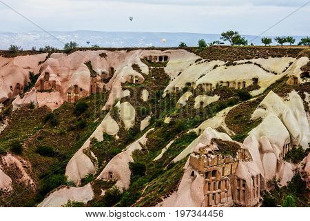 Goreme national park, Turkey, Cappadocia mountain landscape