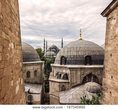 Blue mosque Sultanahmet architecture building, Istanbul, Turkey