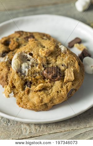 Homemade Gooey Smores Cookies