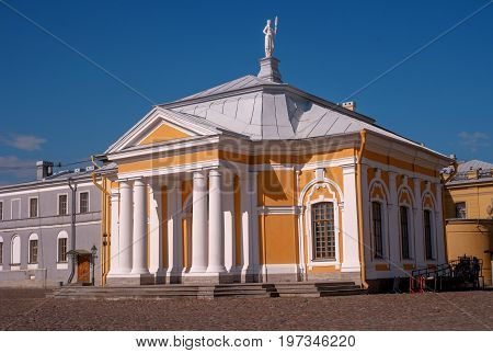 Boat house near the Cathedral of Peter and Paul in the Peter and Paul fortress. It kept the boat of Peter I.