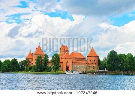 Galve Lake And Trakai Island Castle Baltic