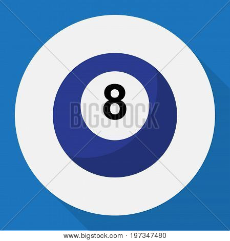Vector Illustration Of Active Symbol On Ball-8 Flat Icon