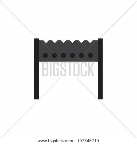 Barbecue Vector Element Can Be Used For Barbecue, Brazier, Bbq Design Concept.  Isolated Brazier Flat Icon.