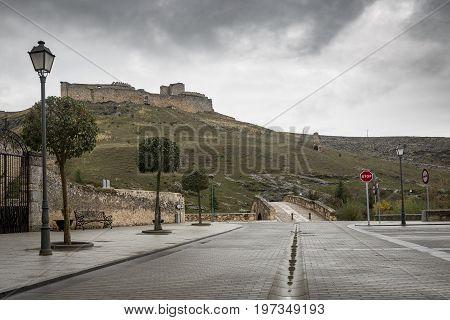 ancient castle in El Burgo de Osma town, province of Soria, Spain