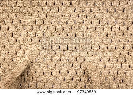 a background of an Old mud bricks wall