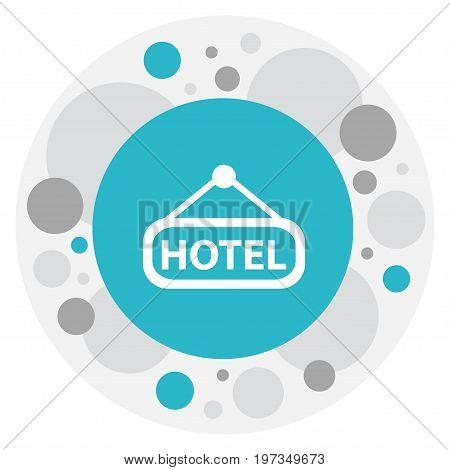 Vector Illustration Of Trip Symbol On Inn Icon