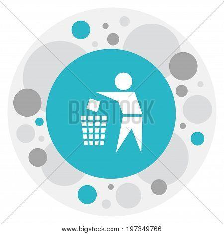 Vector Illustration Of Cleanup Symbol On Trash Bin Icon